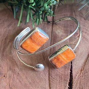 Navajo Spiny Oyster & SterlingSilver Cuff Bracelet